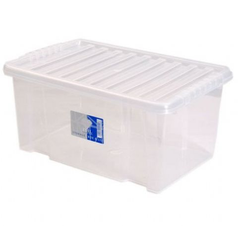 Plastic Small Storage Box & Lid 7L